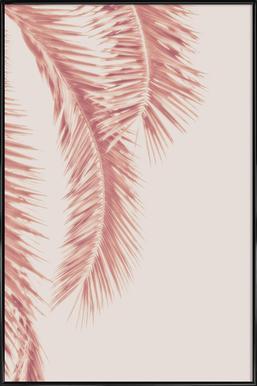 Rose Palm Leaves Poster in Standard Frame