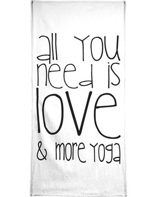 Love and Yoga Bath Towel