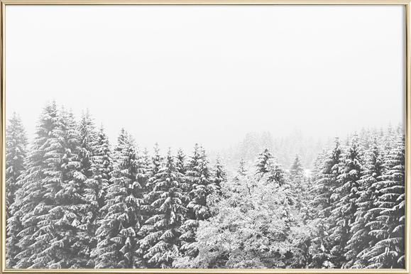 Winter In the Mountains as Poster in Aluminium Frame | JUNIQE