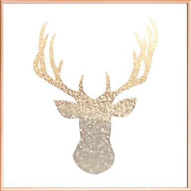 Deer posters in aluminium frames   JUNIQE UK