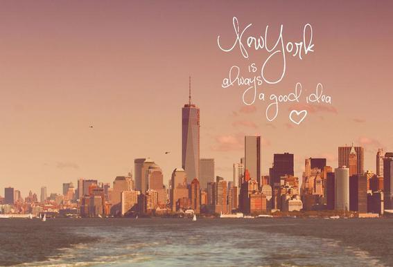 New York Is Always a Good Idea Acrylglasbild