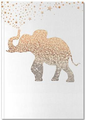 Gold Elephant Notebook
