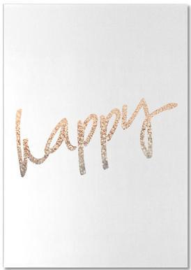 Gold Happy notitieblok