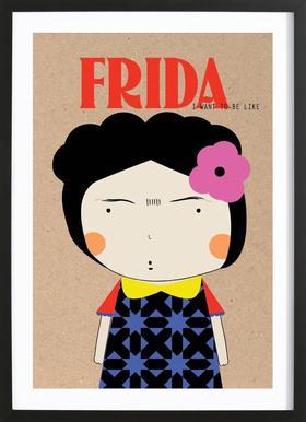 Little Frida Poster in houten lijst