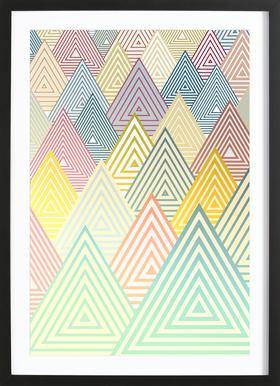 Pastel Mountains Framed Print