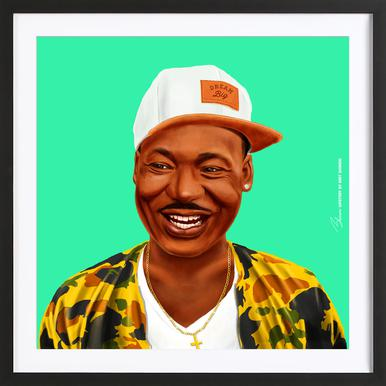 Martin Luther King As Poster By Amit Shimoni Illustration Juniqe