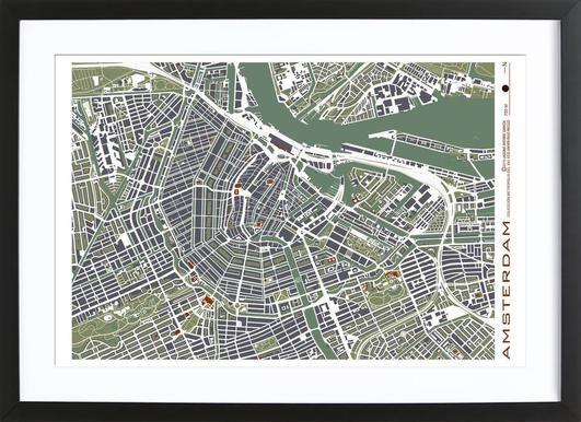 Amsterdam Engraving Framed Print