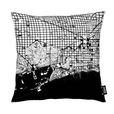 Barcelona Black & White Cushion