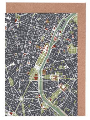 Paris Engraving wenskaartenset