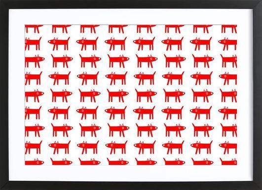 dog pattern 2 Framed Print