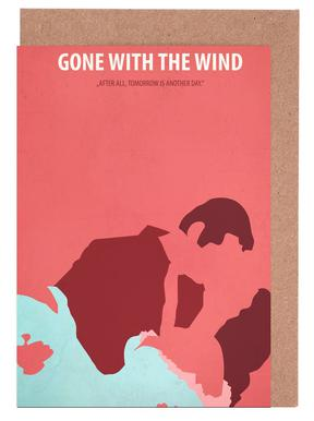 Gone with the Wind cartes de vœux