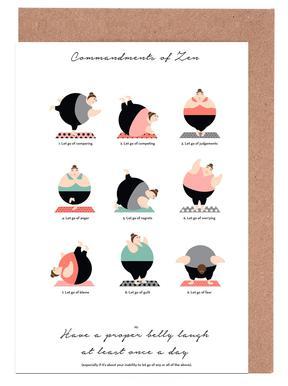 Yoga greeting cards juniqe yoga maria kritzas greeting card set m4hsunfo