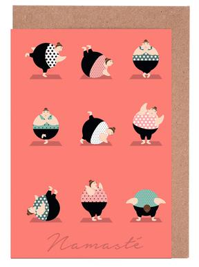 Yoga Coral Set de cartes de vœux