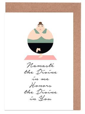 Yoga greeting cards juniqe yoga 1 maria kritzas greeting card set m4hsunfo