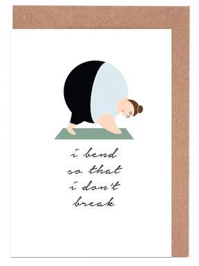 Yoga 3 Set de cartes de vœux