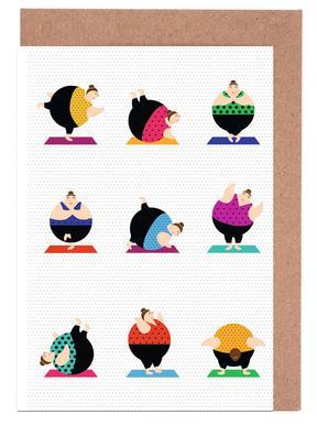 Yoga greeting cards juniqe yoginis bright 2 maria kritzas greeting card set m4hsunfo