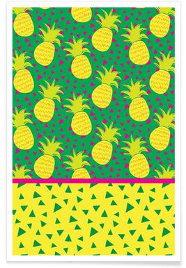 Falling Pineapples Poster