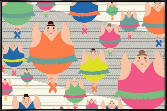 Modern Dancers 2 Framed Poster
