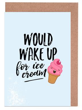 Icecream Set de cartes de vœux