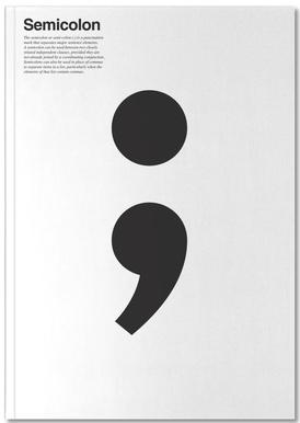 Semicolon Notizbuch