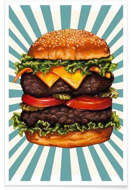 Double Cheeseburger Poster