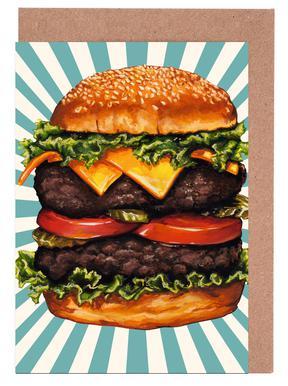 Double Cheeseburger Set de cartes de vœux