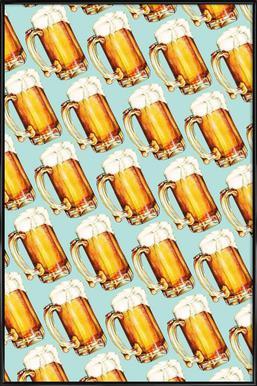 Beer Pattern affiche encadrée