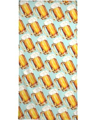 Beer Pattern Hand & Bath Towel