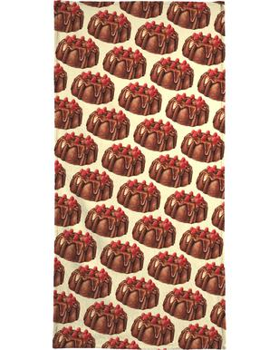 Chocolate Bundt Cake Pattern Hand & Bath Towel