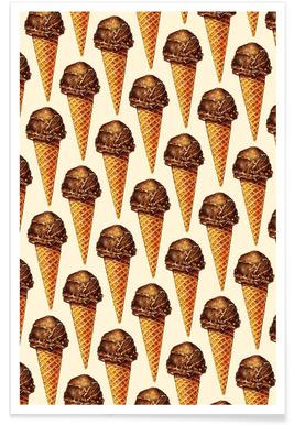 Chocolate Scoop Pattern Poster