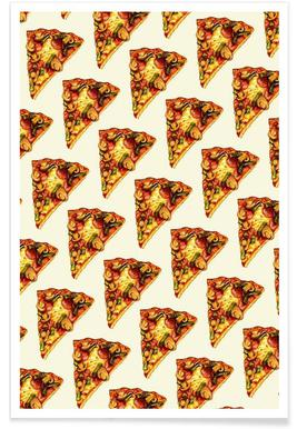 Pizza Pattern Poster