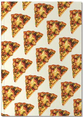 Pizza Pattern Notizbuch