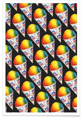 Snow Cone Pattern Poster