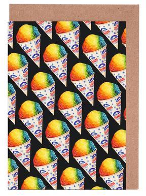 Snow Cone Pattern Greeting Card Set