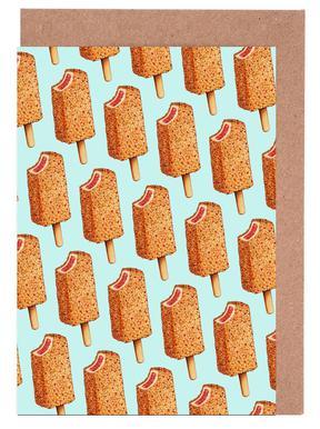 Strawberry Shortcake Popsicle Pattern Greeting Card Set