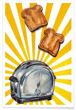 Toaster and Toast Poster