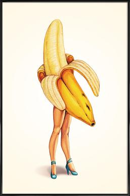 Fruit Stand - Banana ingelijste poster
