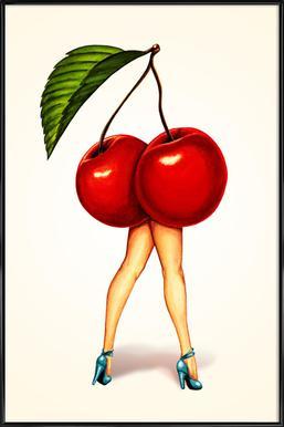 Fruit Stand - Cherry Framed Poster