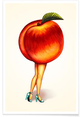 Fruit Stand - Peach Poster