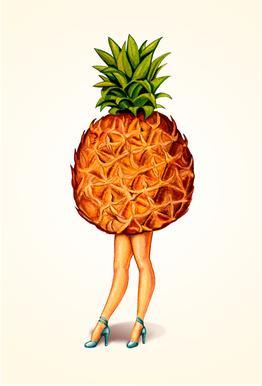 Fruit Stand - Pineapple Acrylic Print