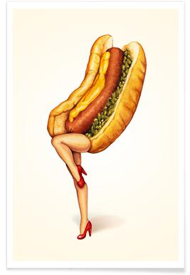 Hotdog Girl Poster