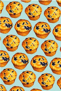 Blueberry Muffin Pattern Acrylic Print