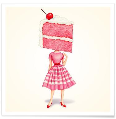 Cake Heads Cherry Poster