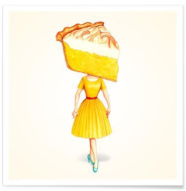 Cake Heads Lemon Poster