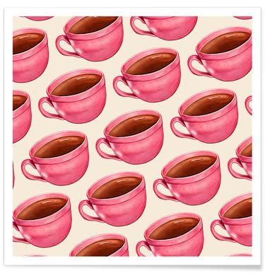 Coffee Patterns Coffee Poster
