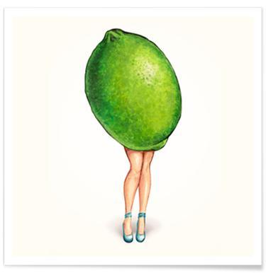 Fruit Girls Lime Poster