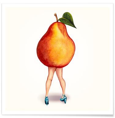 Fruit Girls Pear Poster