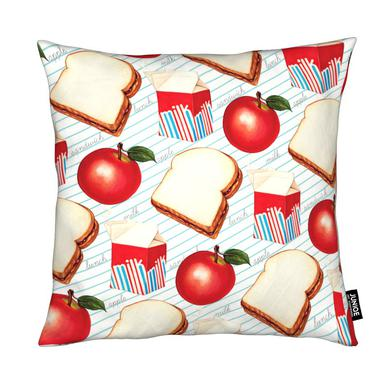 Lunch Patterns Lunch Ruled Cushion