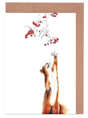 Buy greeting cards online juniqe squirrel janine sommer greeting card set m4hsunfo Images