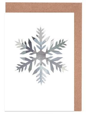 Snowflake 4 Set de cartes de vœux
